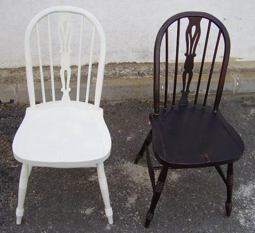Muebles antiguos restaurados en blanco hacer muebles con - Sillas antiguas restauradas ...