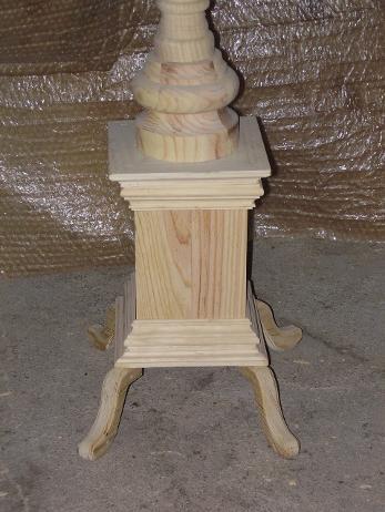 Soporte para colocar velas de pie y torneado el tallercito - Soportes para velas ...