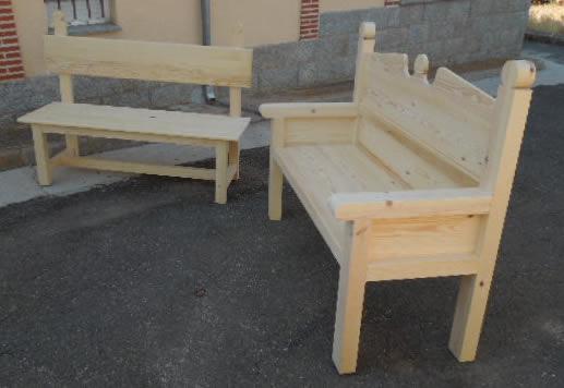 Esca os escanos bancos de madera esca os antig os - Muebles de madera en crudo ...
